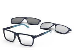 Óculos de Grau Clip-On Mormaii Swap 4 Azul Escuro Degradê Azul Fosco