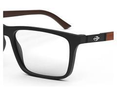 Óculos de Grau Clip-On Mormaii Swap 4 Preto Fosco com Madeira Escura - 2