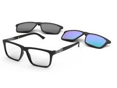 Óculos de Grau Clip-On Mormaii Swap 4 Preto Fosco Cinza