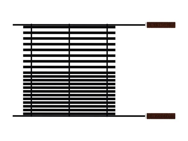 Grelha Tramontina Churrasco Black em Aço Carbono com Cabos de Madeira