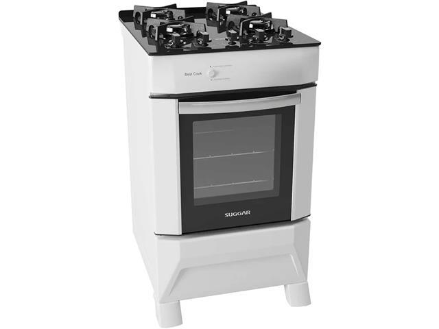 Fogão de Piso Suggar FGV401BR Best Cook 4 Queimadores Branco Bivolt