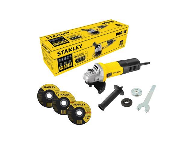 """Esmerilhadeira Angular 1/2"""" Stanley com 3 Discos 900W"""