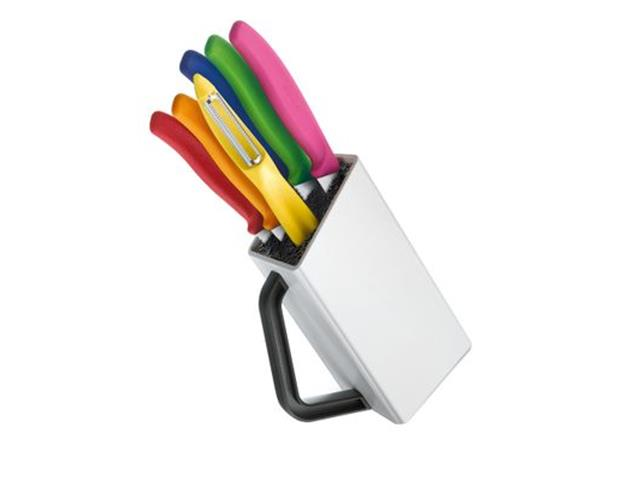 Bloque de cuchillos Swiss Classic, 6 piezas color Blanco Victorinox