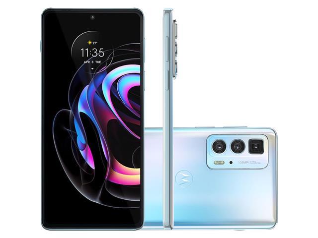 """Smartphone Motorola Moto Edge20 PRO 5G 256GB 6.7""""Câm 108+16+8MP Branco"""