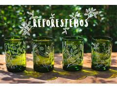 Set 4 vasos GREEN GLASS Reforestemos de 330 ml - 0
