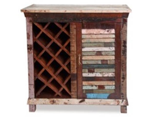 Bar y cava de vinos de madera