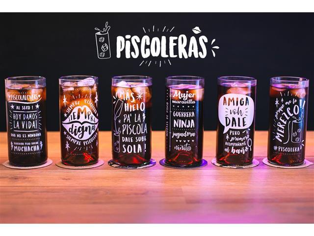 Set 6 vasos GREEN GLASS Piscoleras de 500 ml