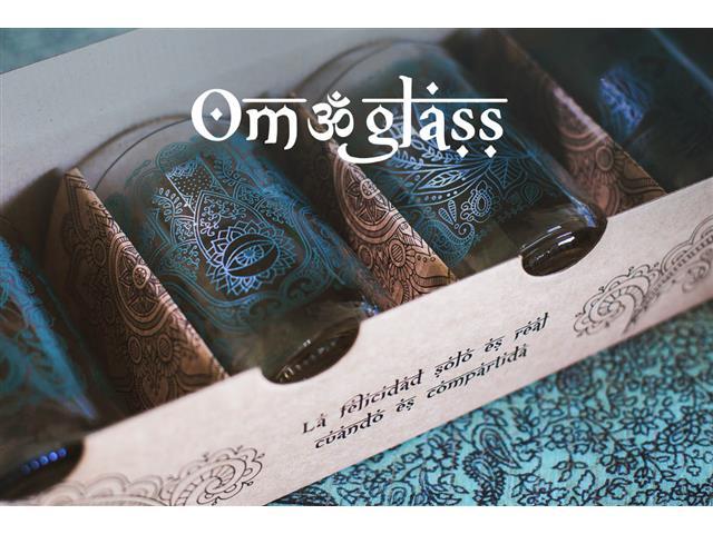 Set 4 vasos GREEN GLASS Om Glass de 330 ml