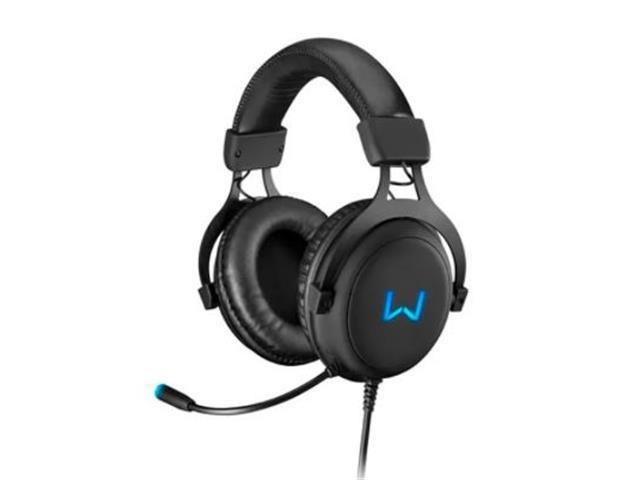 Headset Gamer Warrior PH258 Volker USB 7.1 3D Surround Sound LED Azul