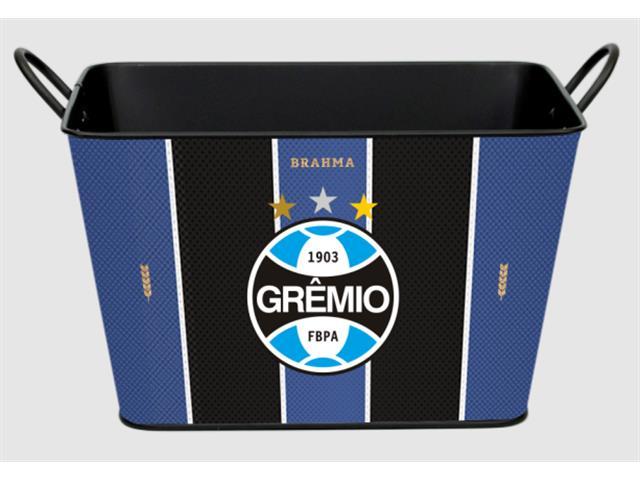 Balde para Gelo em Alumínio Retangular 8 Litros Brahma Grêmio