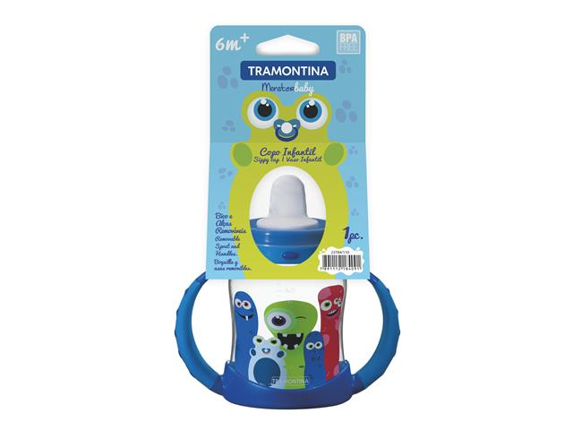 Copo infantil Tramontina Monster Baby Azul - 1