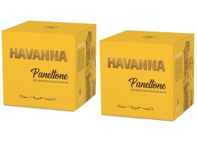Combo 2 Panettones Havanna Doce de Leite 700g Cada - 5
