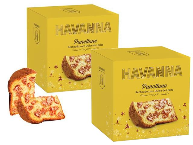 Combo 2 Panettones Havanna Doce de Leite 700g Cada