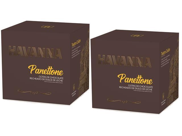 Combo 2 Panettones Havanna Gotas de Chocolate com Doce de Leite 700g - 4