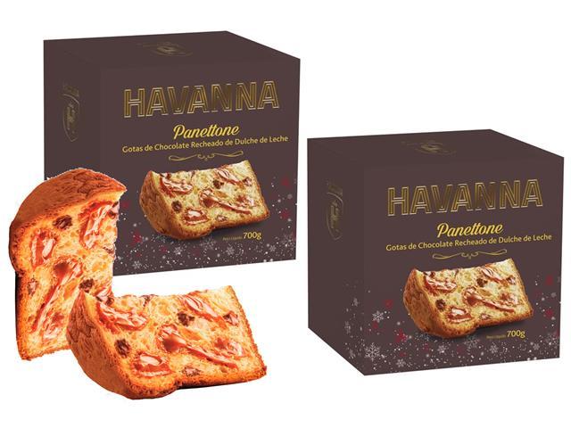 Combo 2 Panettones Havanna Gotas de Chocolate com Doce de Leite 700g