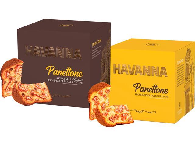 Combo Panettone Havanna Doce de Leite + Gotas com Doce de Leite 700G