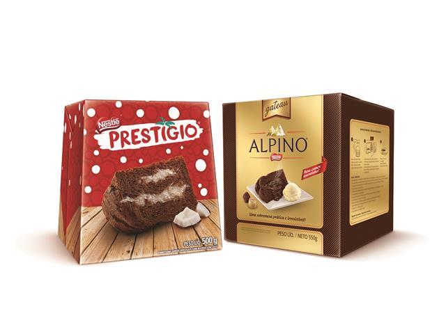 Combo Panettone Prestigio + Alpino Gateau Nestlé