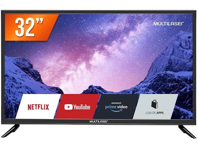 """Tela 32"""" HD Multilaser TL020 com Função Smart E Wi-Fi Integrado"""