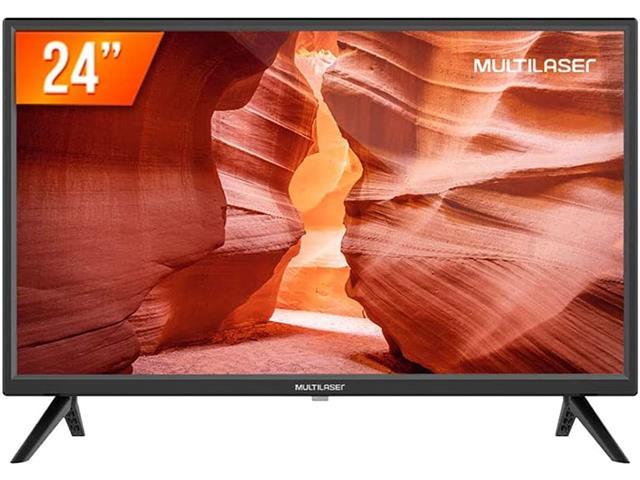 """Tela 24"""" HD Multilaser TL037 com Conversor Digital HDMI + USB + AV"""