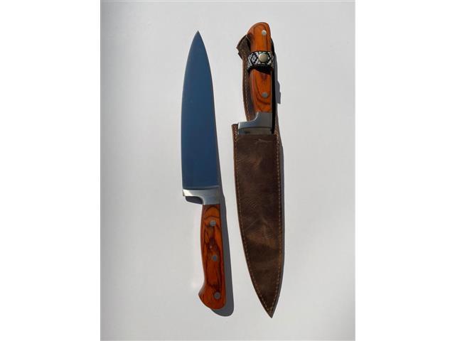 Cuchillo de 8,5 pulgadas con Funda de Cuero Rústico