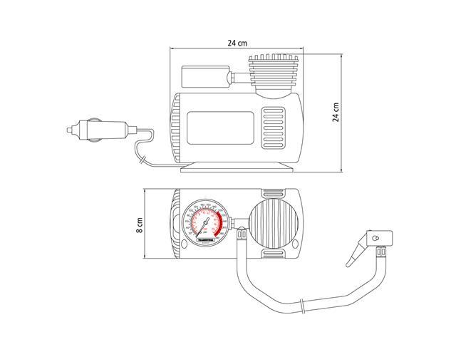 Compressor de Ar Portátil para Carro Tramontina 300 PSI 12V - 1