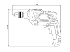 Furadeira de Impacto Tramontina 3/8'' 500W 220V - 6