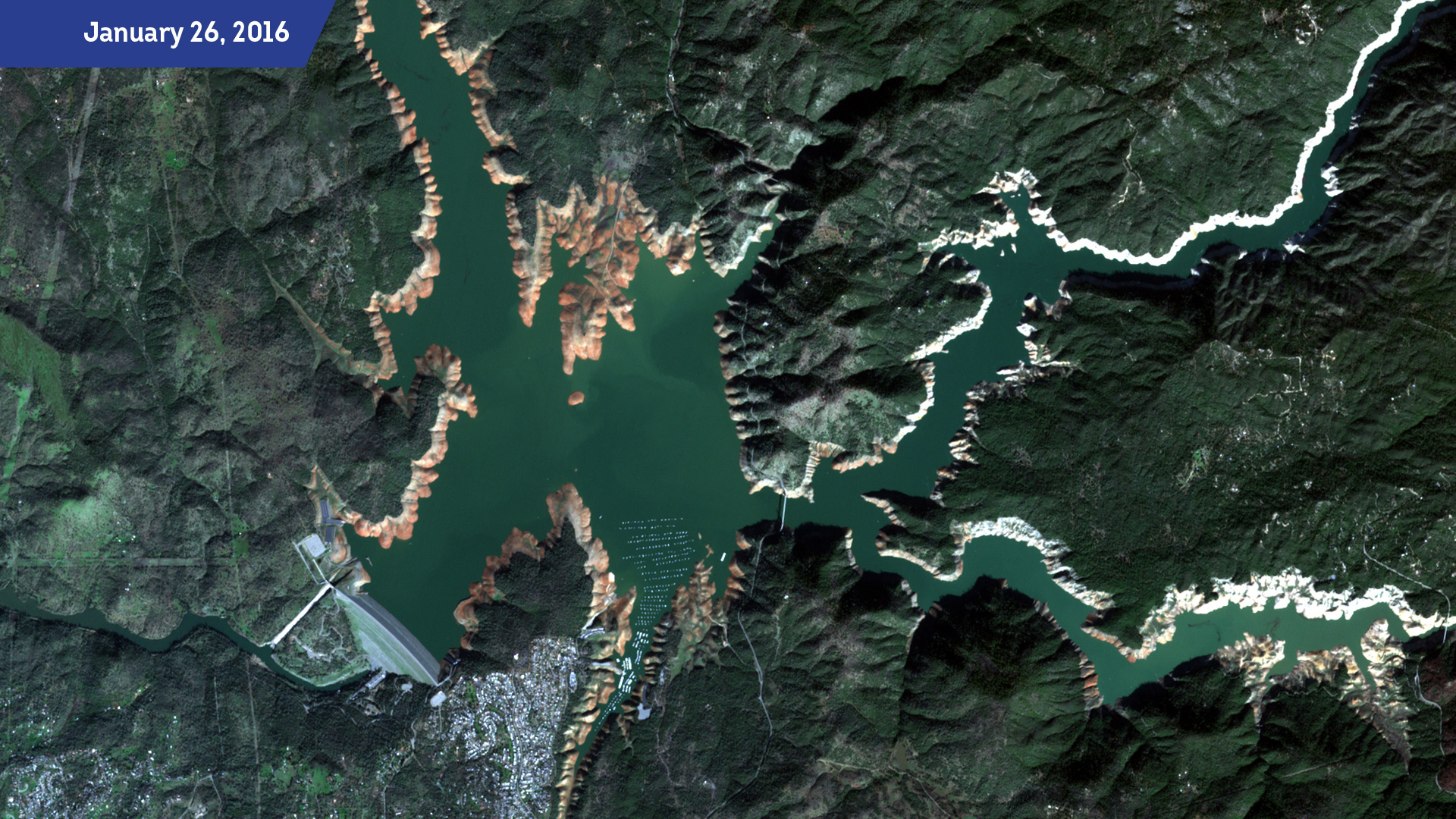Oroville Dam as Seen from Space: Amazing Timelapse Satellite Imagery