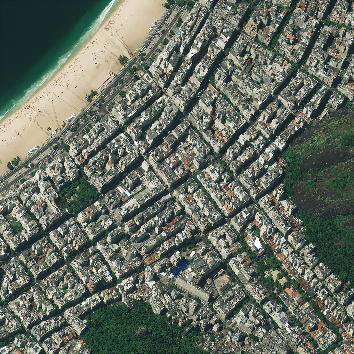 Green infrastructure projects are easily identifiable from satellite data.