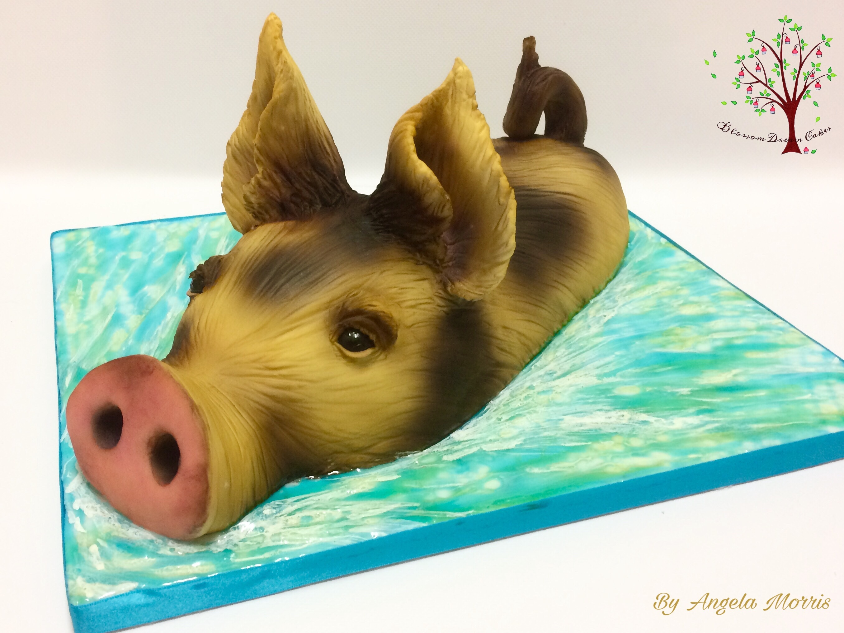 Animal Rights Angela Morris Blossom Dream Cakes Pig