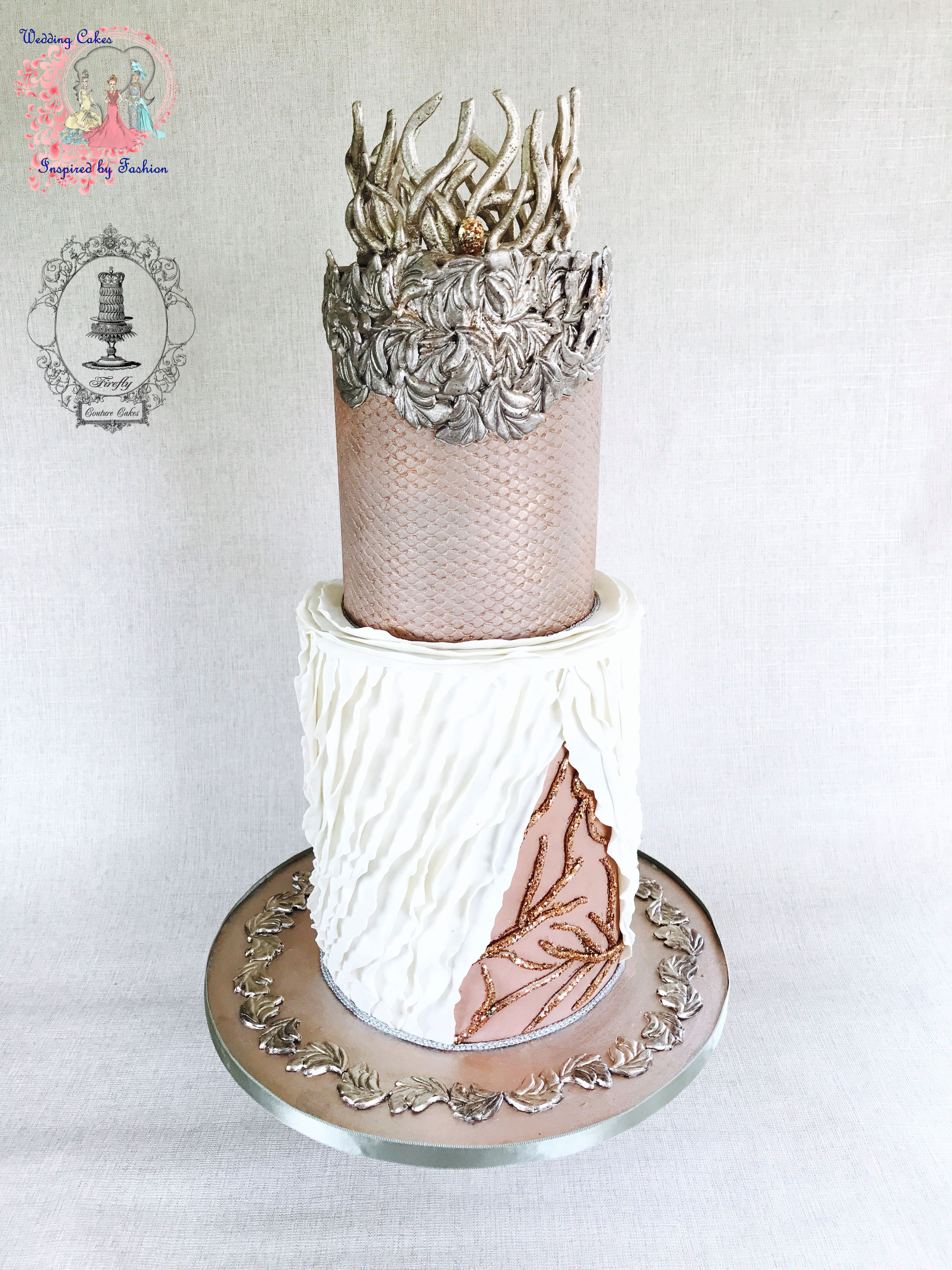 Wedding Cakes Inspired by Barbie Fashion - Satin Ice