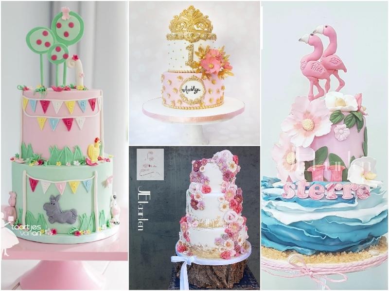 Satin Ice Floral Precious Pink Fondant Cakes