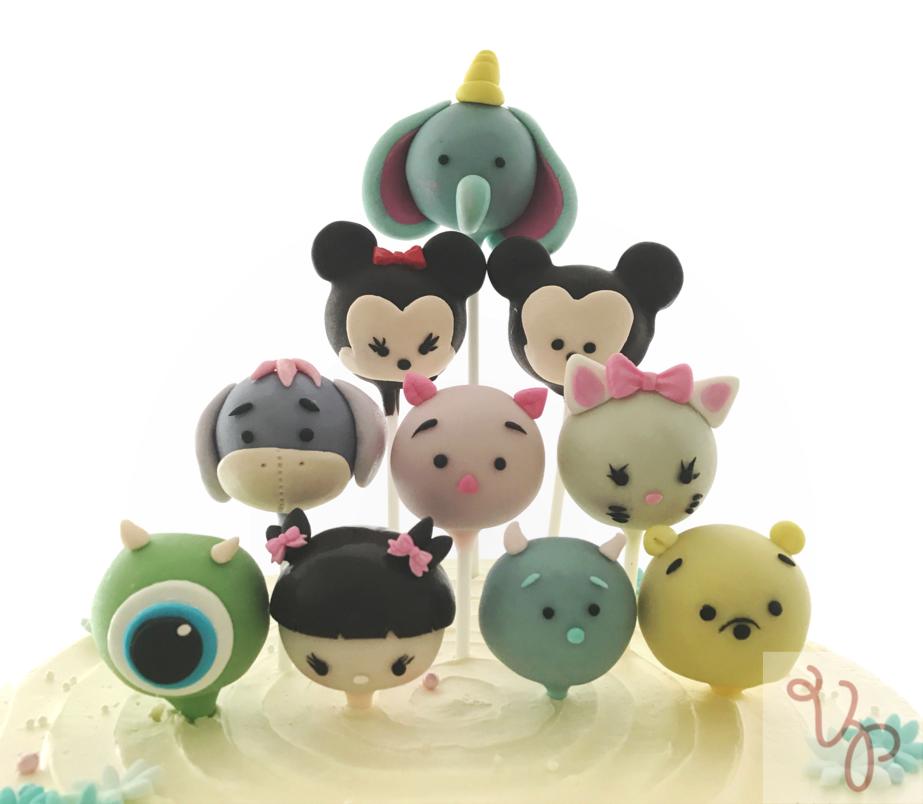 Tsum tsum fondant figurines