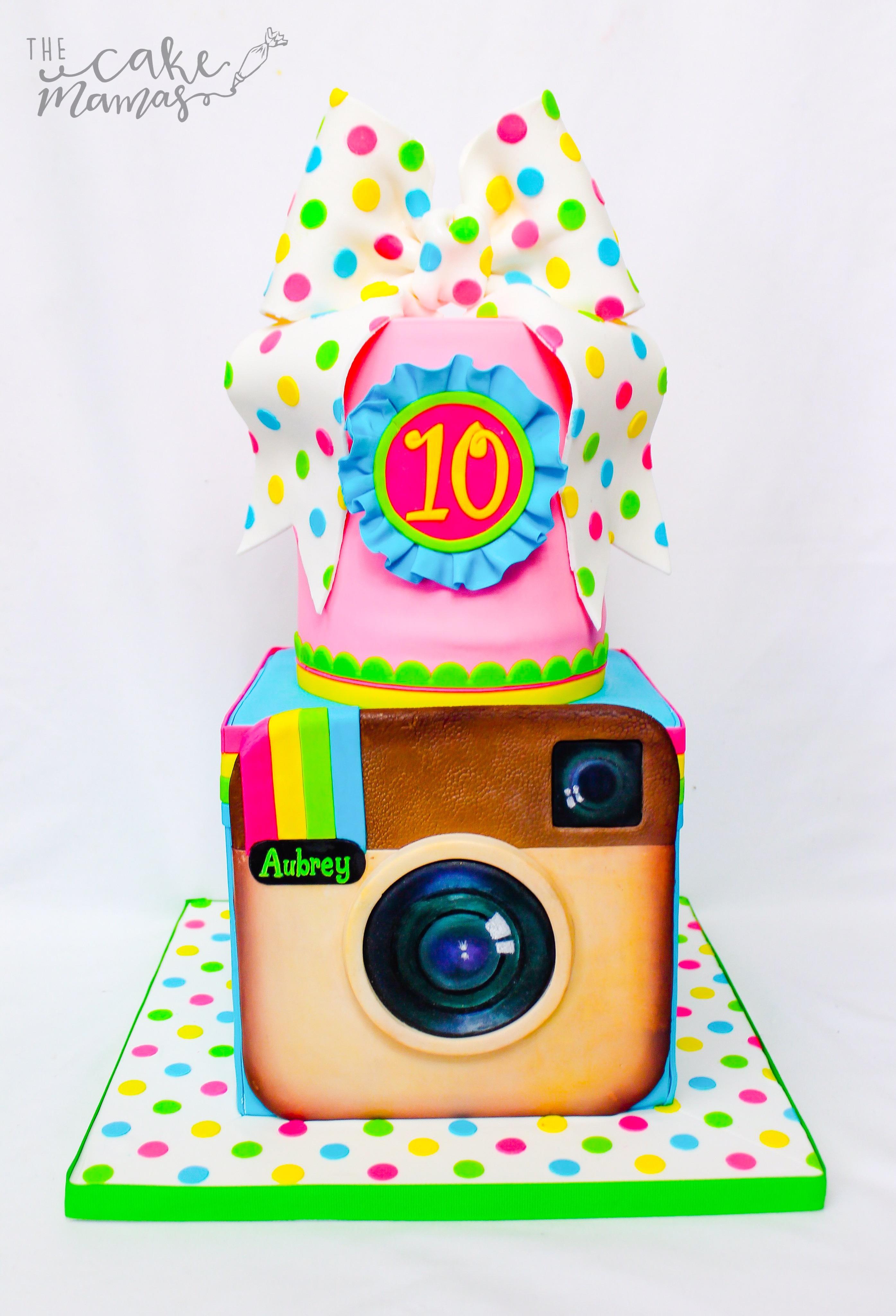 Instagram themed birthday cake