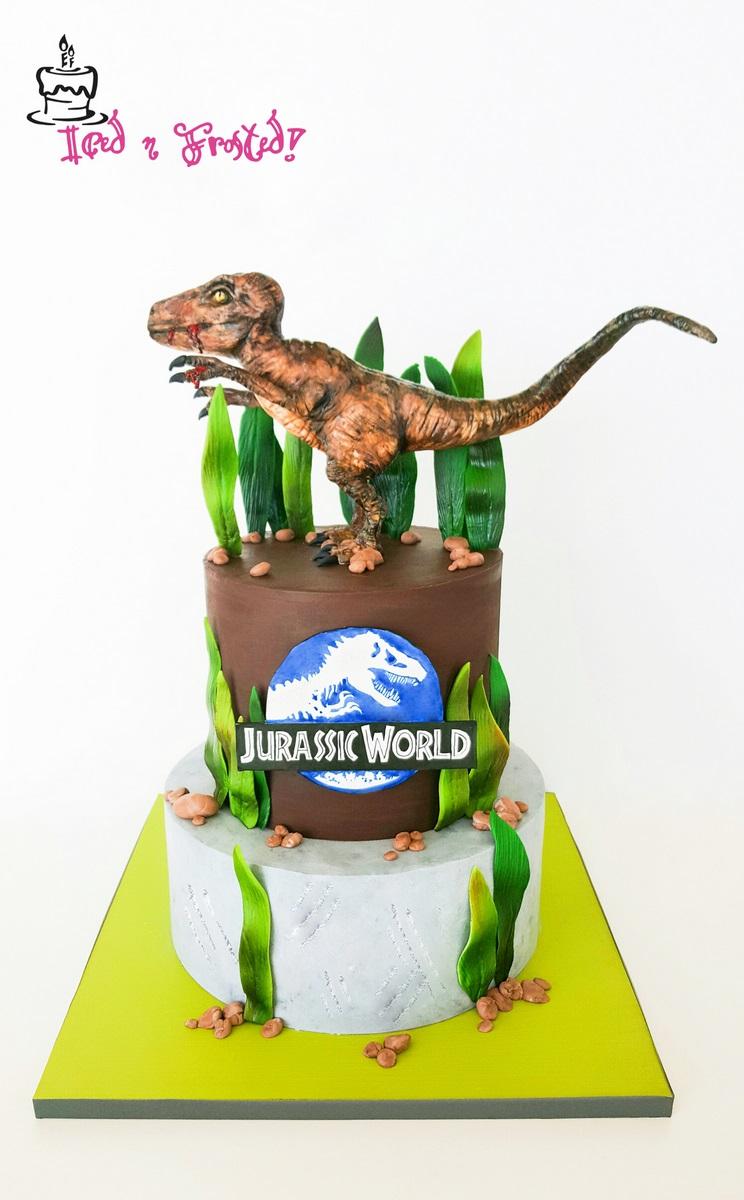 Jurassic Park inspired birthday cake