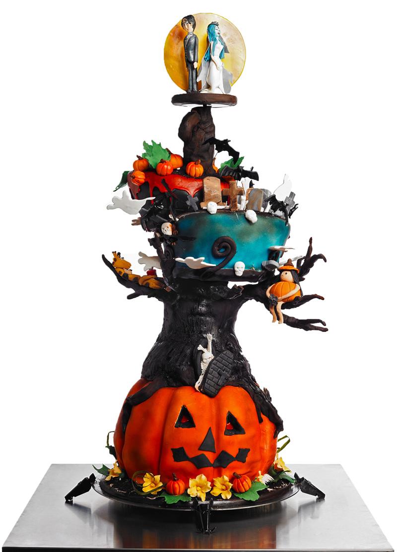 Intricate Halloween Cake