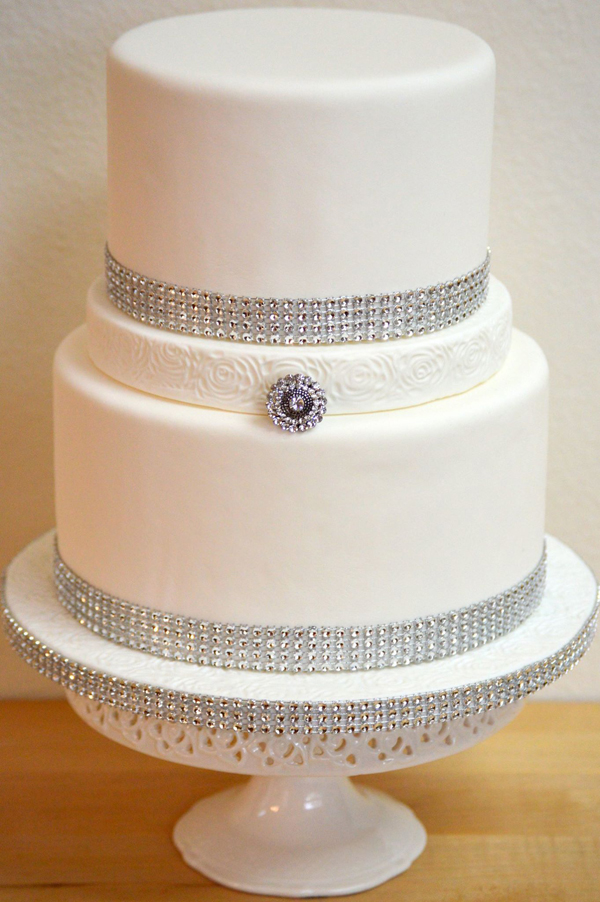 Classic Diamond Wedding Cake