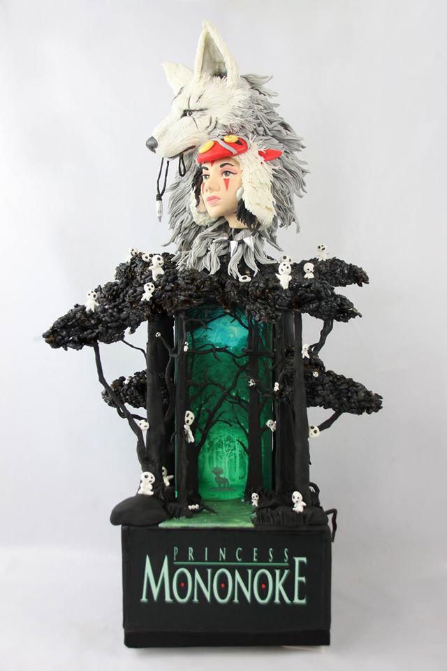 princess mononoke themed cake