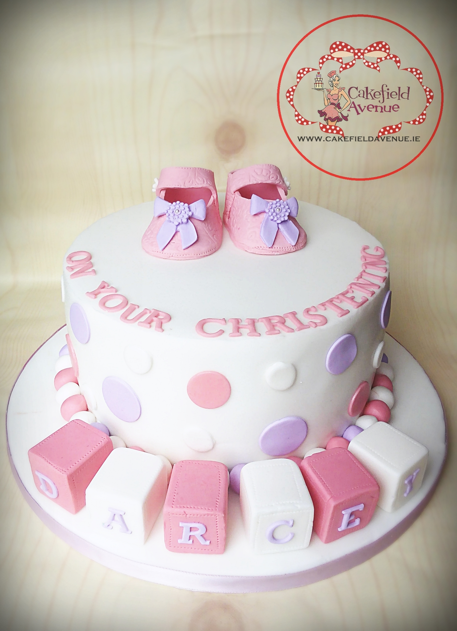 Baby bootie girl cake