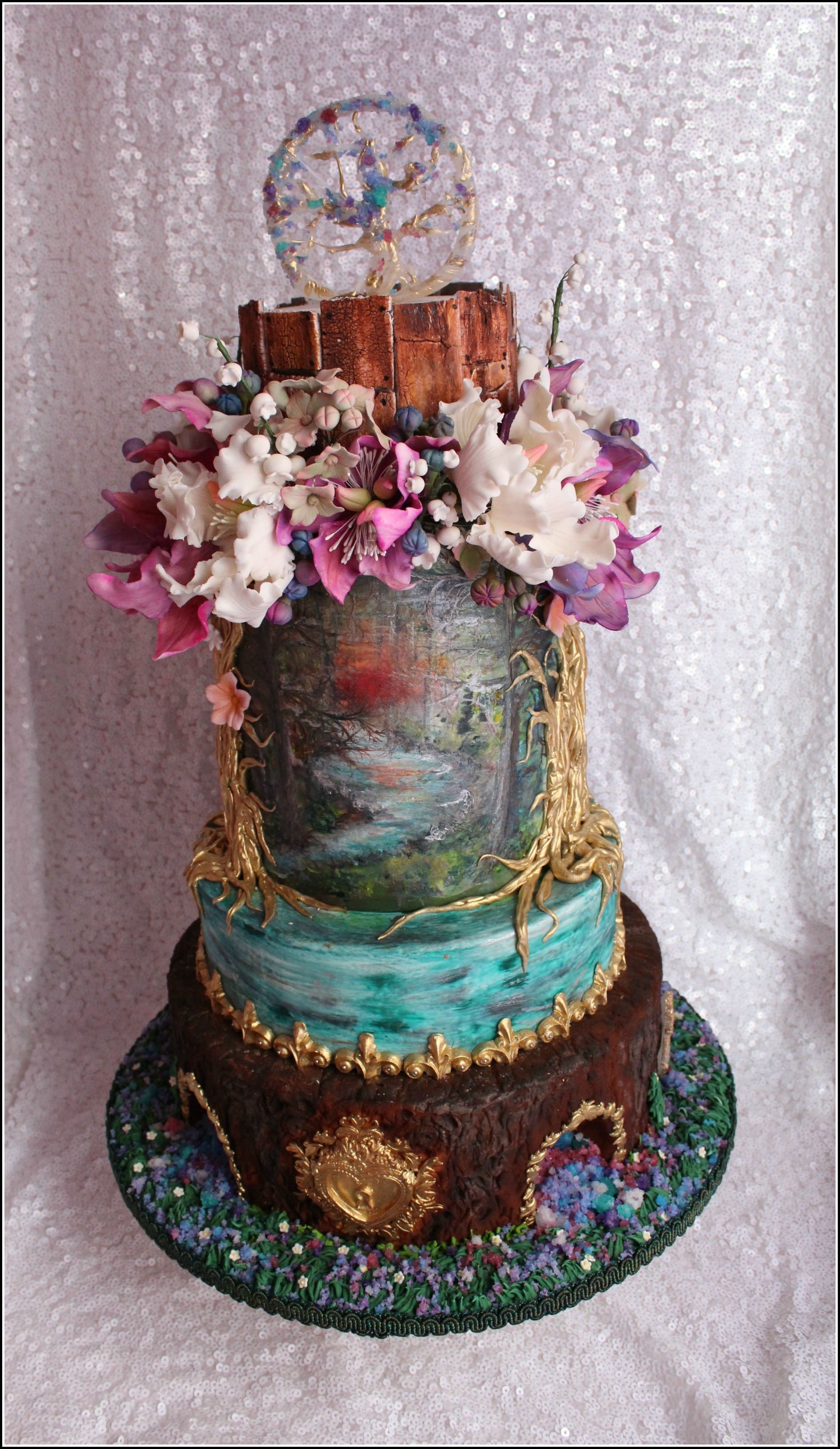 Enchanted love wedding cake