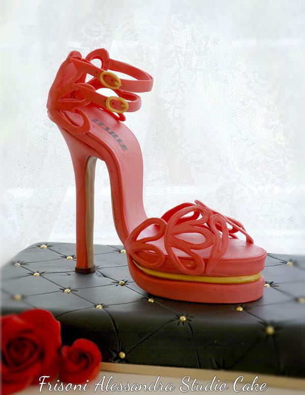 Red High Heel sugar shoe