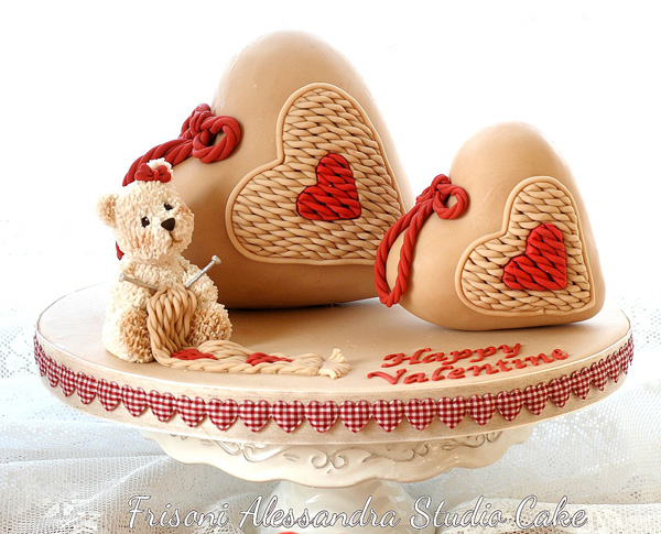 Sculpted Heart Cakes