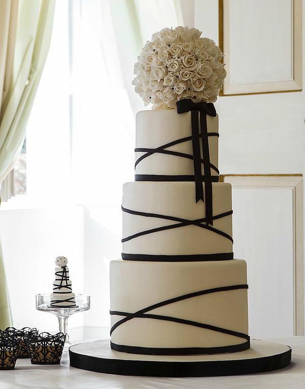 White cake with Pom Pom