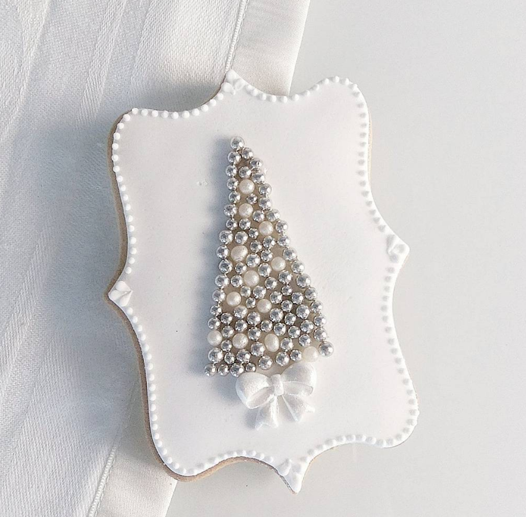 Silver Christmas Tree cookie