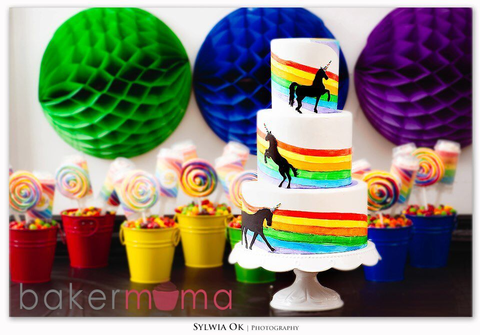 Rainbow unicorn birthday