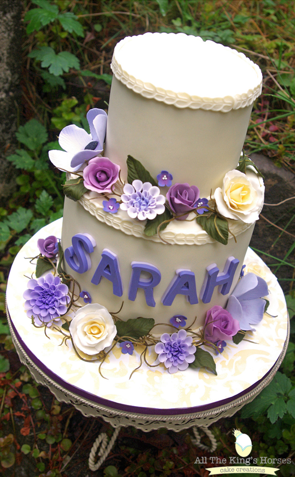 Purple Tiered Birthday