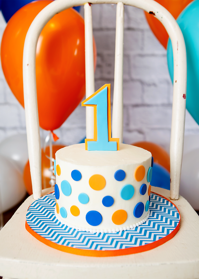 Polka Dot Mini Birthday Cake