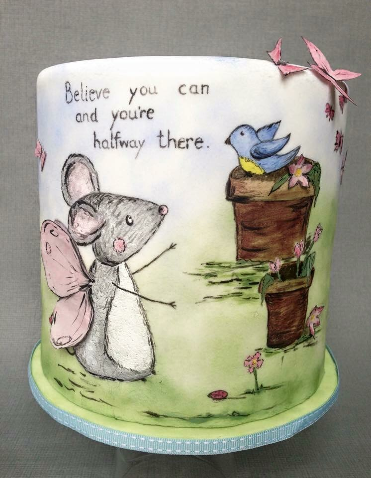 Hand painted fairy tale children cake