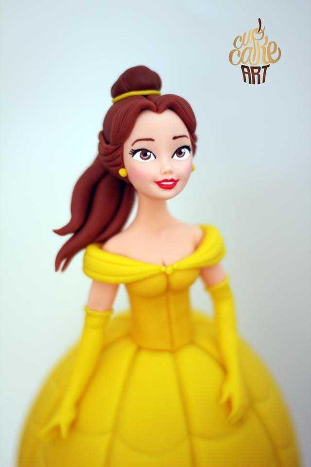 Princess Belle fondant figurine