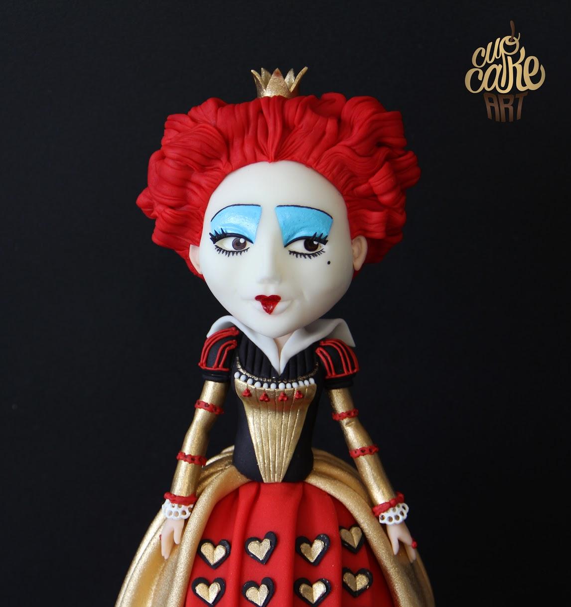 Queen of Hearts Fondant figurine