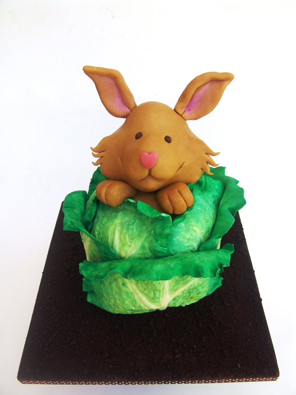 Sculpted Bunny Cake